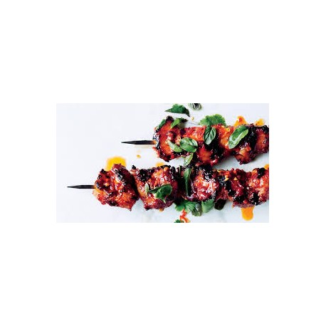 Brochettes d'agneau sauce curry